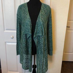 One World knit cardigan Large NWT